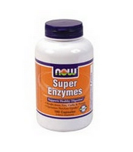 NOW Foods enzymes Super, 180 Capsules
