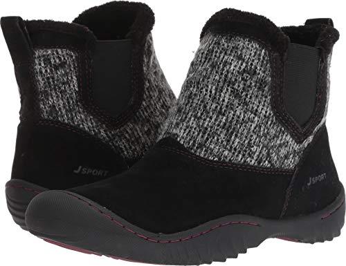 JSport by Jambu Women's Kendall Ankle Boot, Black, 8.5 Medium US