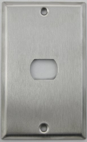 Brushed Satin Stainless Steel 1 Single Gang Wall Plate - 1 Despard (Steel Despard Wall Plate)