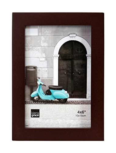 Kiera Grace Contempo Wood Picture Frame, 4 by 6-Inch, Espres