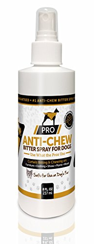 PRO Anti Chew Spray For Dogs & Puppies – Alcohol Free – Most Powerful Bitter Deterrent – 8oz