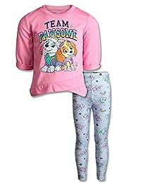 Nickelodeon Paw Patrol Girls' Fleece Long Sleeve Fashion Top & Leggings Clothing Set