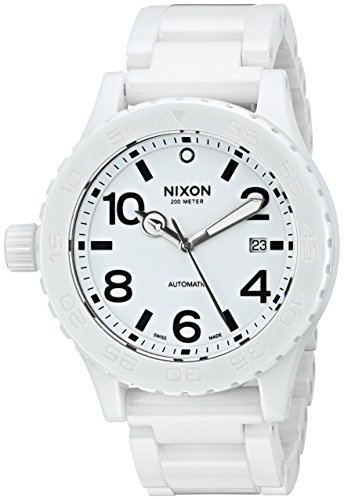 (Nixon Men's A148-126 Ceramic 42-20 Automatic White Dial Bracelet Watch)