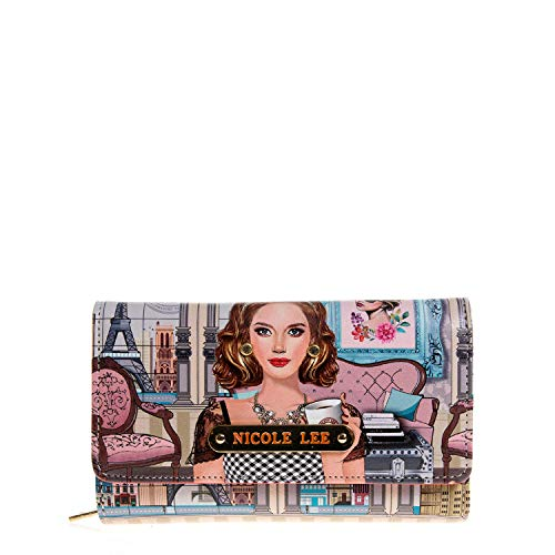 Trifold Printed Wallet With RFID Blocking with Multiple Compartments
