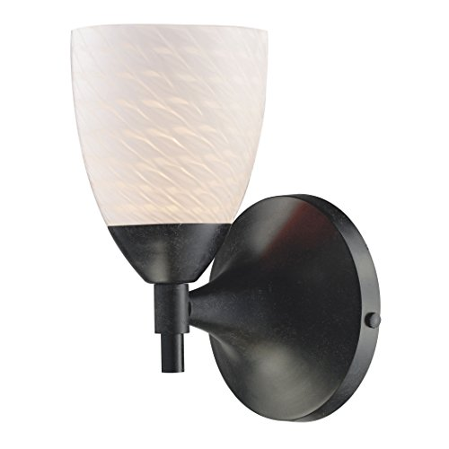 Alumbrada Collection Celina 1 Light Sconce In Dark Rust And White Swirl Glass