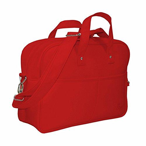 Garessi M11-01 - Bolso de paseo, color blanco Rojo