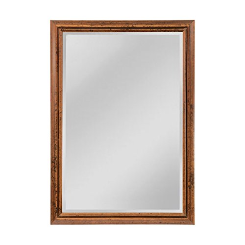 Elk Groove Designed Frame, Beveled Mirror, Florentine Light Bronze
