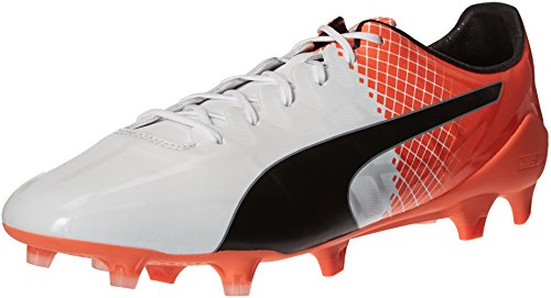 shocking Soccer Puma Cleat Black FG White Puma puma SL Mens Lth Orange evoSPEED qgwxW1ZPX