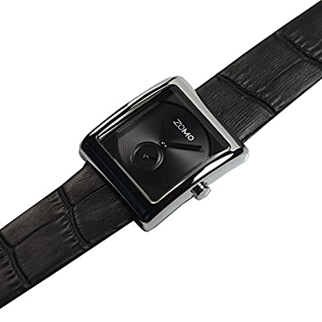 c5b827928ac Amazon.com  ZOMO Aroma Luxury Watches for Women - Designer Watches Swiss  Quartz Square Watches with Silver Dial and Black Leather Strap  Watches