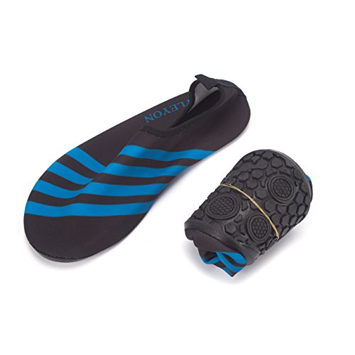 Dodoing Vann Sko Mens Women Raske Tørre Sports Aqua Sko Unisex Svømme Sko For Svømme, Turgåing, Yoga, Vann, Strand, Hage, Park, Kjøring, Båtliv Svart / Blå