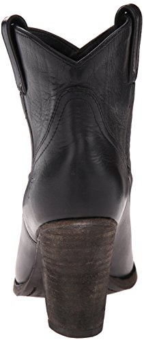 FRYE Womens Ilana Short Western Boot Black Washed Oiled Vintage Leather-76799 fEbrh