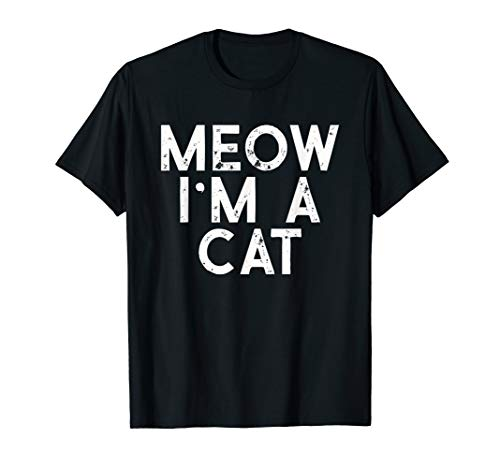 Male Cat Halloween Costumes (Meow I'm A Cat Distressed Halloween Costume)