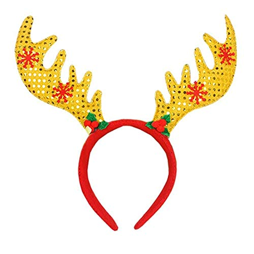 Christmas Headbands - Funny Deer Antler Headband Christmas Fancy Dress Costumes Accessory Birthday Gift - Jingle Adults Children That Snowman Light Newborn Adult Hat Kids ()