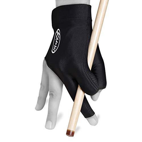 Kamui Billiard GLOVE QuickDry, for RIGHT Hand, Black (L)