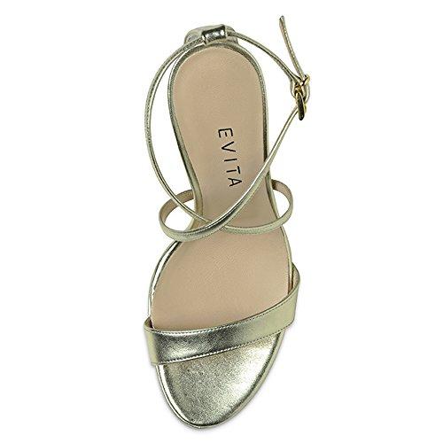 oro Donna Shoes Oro Sandali Evita wq84YTq