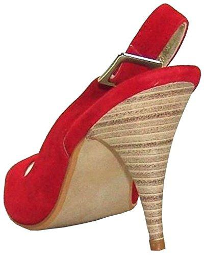 Apart Pumps Schwarz - Sandalias de vestir de cuero para mujer rojo - rojo