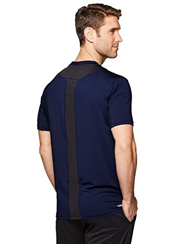 RBX Active Men's Short Sleeve Workout Performance Athletic T-Shirt Navy M
