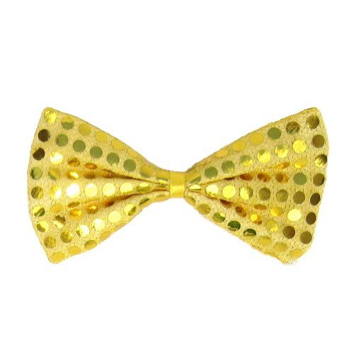 [SeasonsTrading Gold Sequin Bow Tie ~ Fun Costume Party Accessory (STC12059)] (Fun Cheap Easy Halloween Costumes)