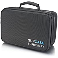 Supremery Sup320 Waterresistent Case for Gopro Hero 5 / 4 / 3+ / 3/2/1, Sj4000 Sj5000 Bag Case for Camera, Housing, Wifi Remote and Accessories (Hidden Compartment, Zipper,Hardshell Case) Black-blue