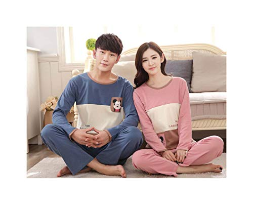 RACHEL&KERR Men Women Couples Home Nightwear Pajamas Long Sleeve Tops + Pants Set Pyjamas 8008 Women039;s L -