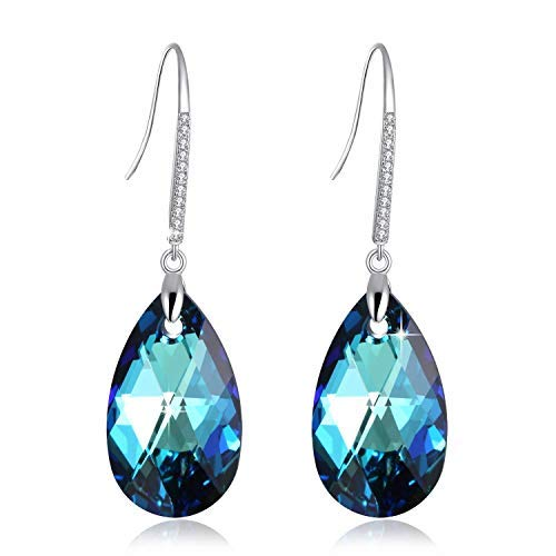 ?Crystals from Swarovski? Drop Earrings Crystals Drop Dangle Earrings for Girl, Birthday Birthstone Jewelry Gifts for Women, Gift Packaging