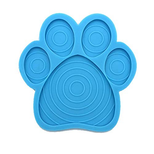 SHOR Premium Dog Lick Mat | Dog Distraction Lick Pad, Dog Slow Treater Dispensing mat Dog Peanut Butter Mat for Easy Shower, No-Stress Dog Bath Time | Lick Pad for Dog Washing and Grooming (Blue)