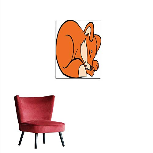 Mural Decoration Coloring Pages Wild Animals Little Cute Baby Fox Mural 32