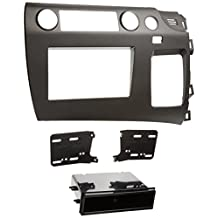 Metra 99-7871 Single/Double DIN Installation Kit for 2006-Up Honda Civic Vehicle, Charcoal Grey