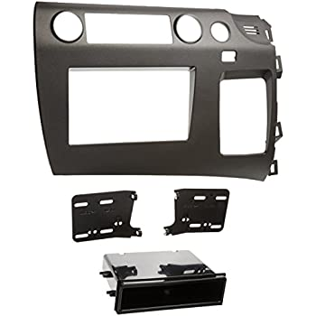 dkmus double din radio stereo dash install mount trim kit for honda civic 2006 2011. Black Bedroom Furniture Sets. Home Design Ideas