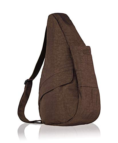 (AmeriBag Classic Distressed Nylon Healthy Back Bag tote Medium,Brown,one size)