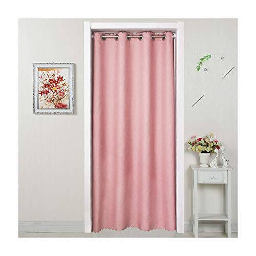 SunnyWarm Punching Living Room Bedroom Toilet Partition Dressing Room Air Conditioning Insulation Curtain Fabric Custom,Coffee Color Punch,250270 ()