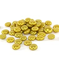 CYS EXCEL Gem Stone Gold, Glass Stone, Marbles, Pebbles for Vases, 5 LB, 500-600 Stones, Multiple Color Choices, Flat Bottom, Round Top, Rocks, Bowl Filler Gems