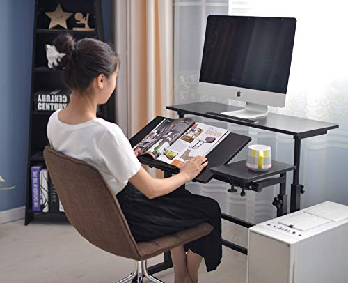 SIDUCAL Mobile Stand Up Desk, Adjustable Laptop Desk with Wheels Storage Desk Home Office Workstation, Rolling Table… 5