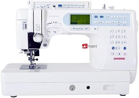 Janome Memory Craft 6600 – Máquina de Coser: Amazon.es: Hogar