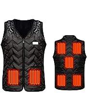 Verwarmd vest elektrisch verwarmingsjack met 7 zones verwarming, instelbaar warmtevest, USB-oplading, lichaamswarmer, outdoor, werk voor mannen en vrouwen
