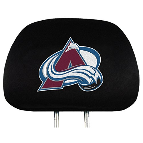 NHL Colorado Avalanche Head Rest Covers, 2-Pack