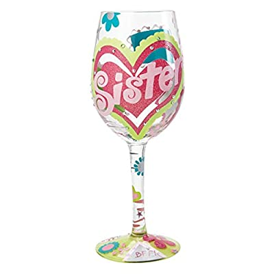 Lolita from Enesco Best Grandma Ever Wine Glass