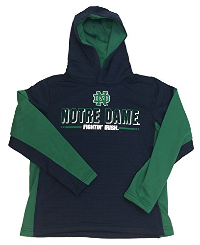 Setter Youth Sweatshirt - Colosseum Notre Dame Youth Setter Hooded Sweatshirt-Navy-Medium