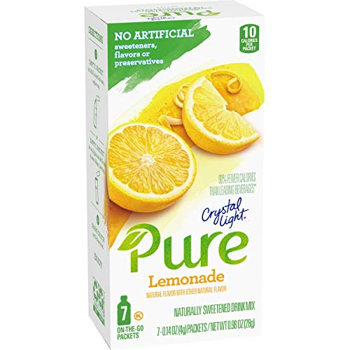 Crystal Light Pure Lemonade Drink Mix (84 On-the-Go Packets, 12 Packs of 7)