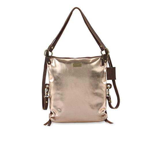 HYDESTYLE - Bolso mochila  para mujer Varios colores azul oro rosa