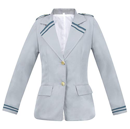 (C-ZOFEK My Hero Academia Summer School Uniform Suit Shirt Dress Jacket Cosplay Costume -Adult Unisex US Size (Women Small))