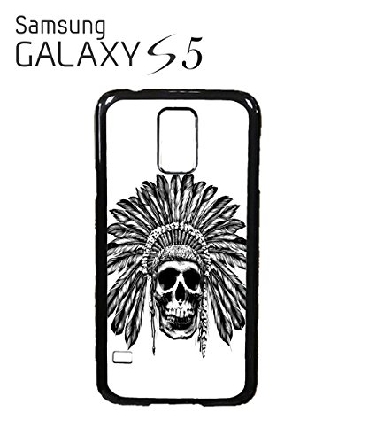skull-indian-chief-native-festival-mobile-cell-phone-case-samsung-galaxy-s5-white