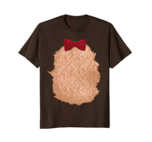 Mens Teddy Bear Halloween Christmas DIY Costume T-Shirt XL Brown