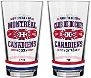 NHL Montreal Canadiens Property of Mixing Glass, 2-Pack