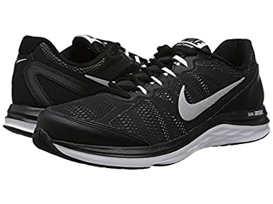 Nike Men's Dual Fusion Run Running Shoes (6.5, Black/White/Cool Grey/Metallic SIlver)