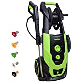 PowRyte Elite 2300 PSI 1.9 GPM Electric Pressure Washer, Portable Power Washer with Hose Reel, 5 Quick-Connect Spray Tips and Onboard Detergent Tank