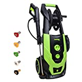PowRyte Elite 2300 PSI 1.9 GPM Electric Pressure Washer, Portable Power Washer with Hose Reel, 5 Quick-Connect Spray Tips and Onboard Detergent Tank For Sale