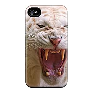 [TIwDO15491QCHzc]premium Phone Case For Iphone 4/4s/ Angry White Tiger Tpu Case Cover