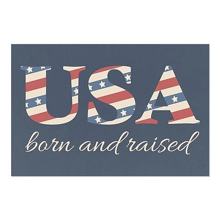 CGSignLab | ''Born And Raised'' Repositionable Opaque White 1st Surface Static-Cling Non-Adhesive Window Decal (5-Pack) | 30''x20'' by CGSignLab