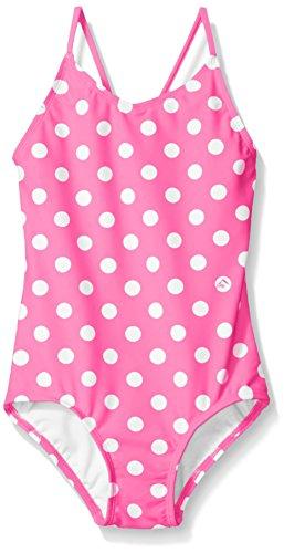 Kanu Surf Big Girls' Suzie Polka Dot 1-Pc Swimsuit, Pink, 10